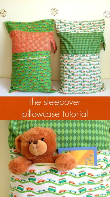 The Sleepover Pillowcase: Tutorial. I'm actually imagining this as an emergency bag.