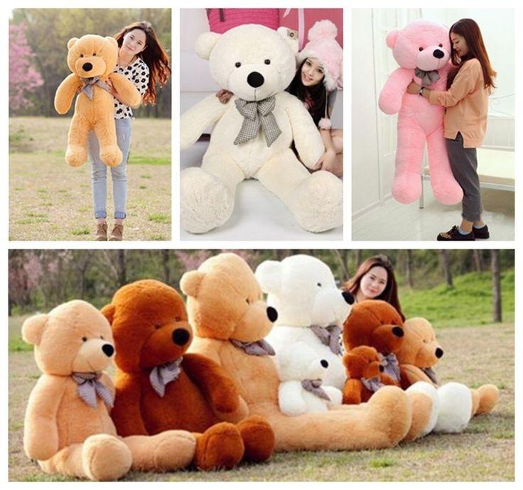 Teddy Bear Grand Nounours Géant Ours Peluche Ourson Jouets Doux Cadeau Pr Enfant