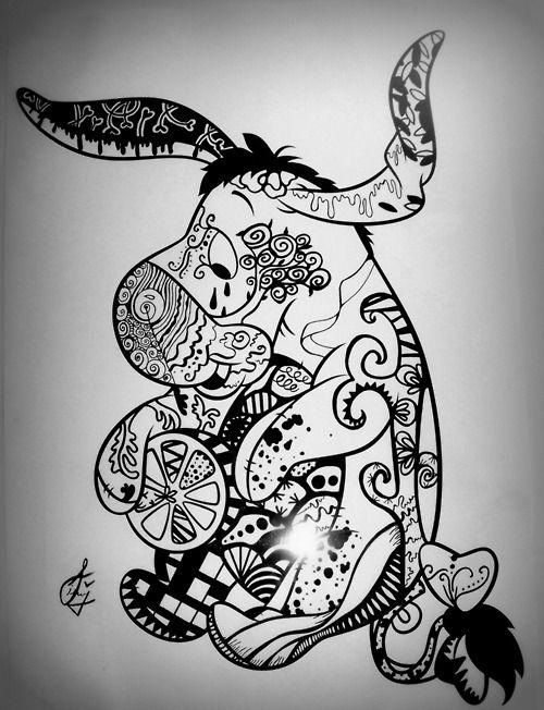25 Best Ideas About Eeyore Tattoo On Pinterest Disney Pencil