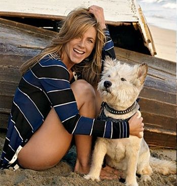 Jennifer Aniston & her rescue dog Norman! What a great looking pair!