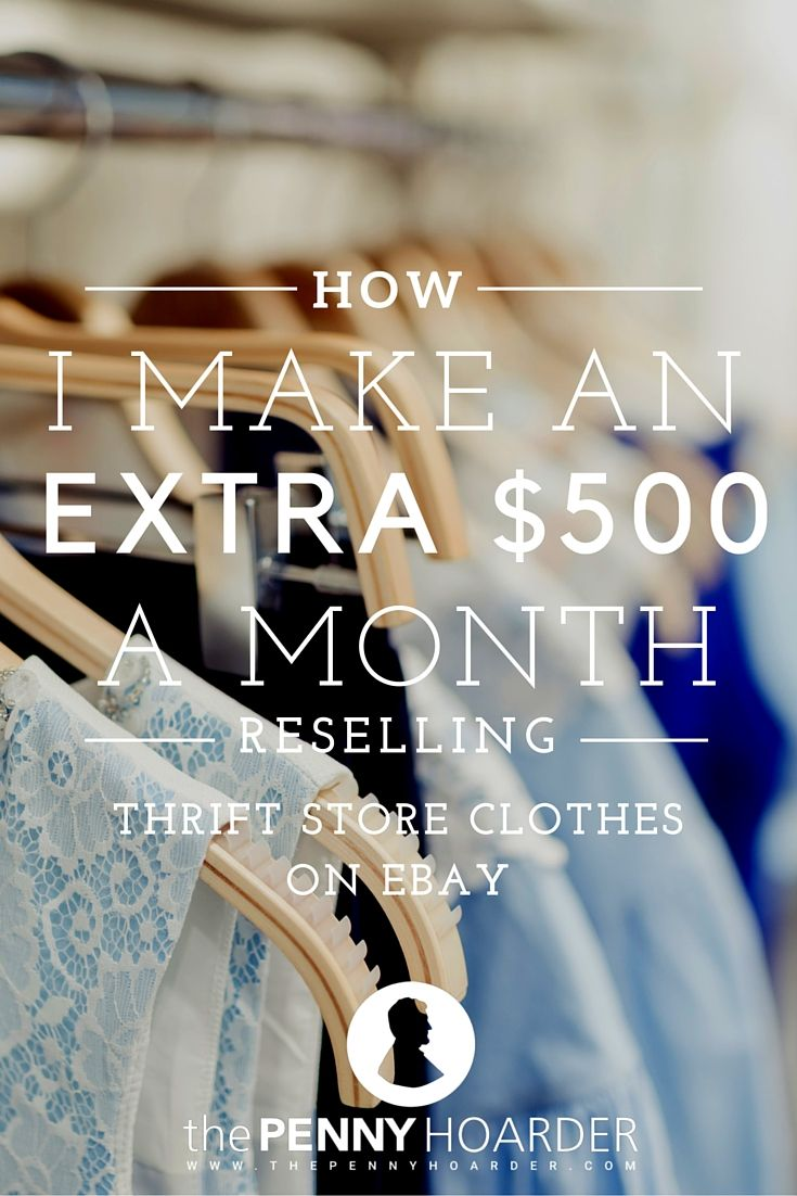 Spend a lot of time thrifting? Turn it into a side hustle by selling on eBay! This woman makes up to $800 a month. - The Penny Hoarder http://www.thepennyhoarder.com/thrift-store-selling-on-ebay/