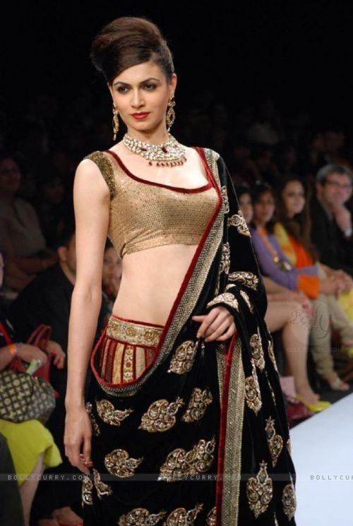 lovely magenta and black designer lehenga