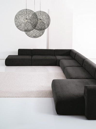 sofa design, facilement transportable, et modulable en lit. sancal