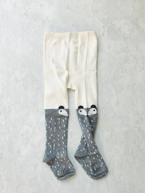 CHARACTER STOCKINGS / TIGHTS - 'GREY FOX'    #MamaFashionMe - Aussie Online Store with Beautiful Accessories for Girls + Some for Boys