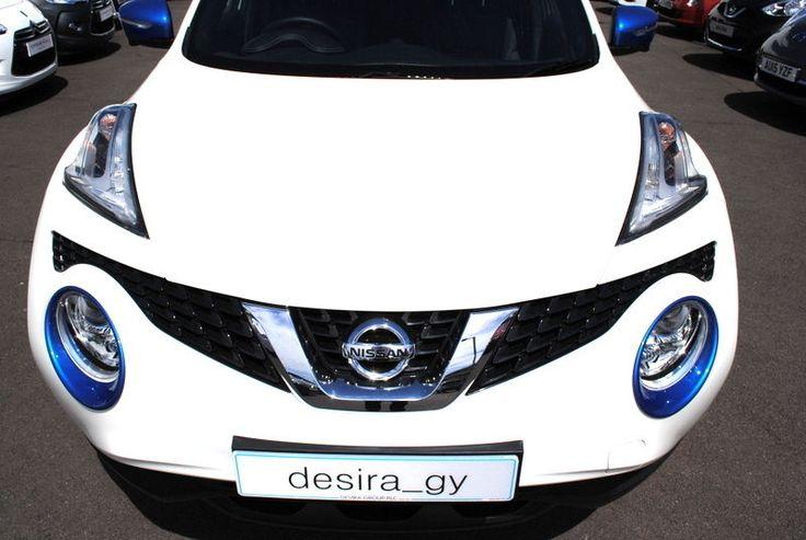 Nissan Juke 2014 Head Lamp Light Surround Trims Zama Blue Genuine KE610BV260EB
