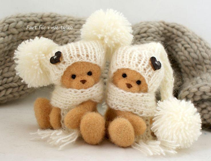 Bliźniaki, #polandhandmade #felt #ooak #teddybear #fartfilcinietylko