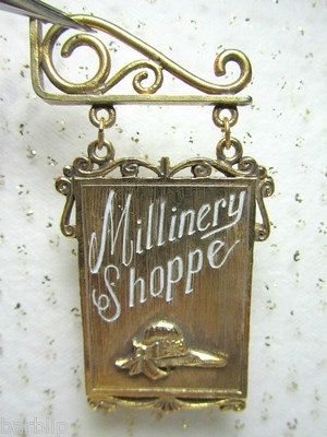 Dollhouse Miniature Double Sided Millinery Hat Shop by bellainrosa, $20.00