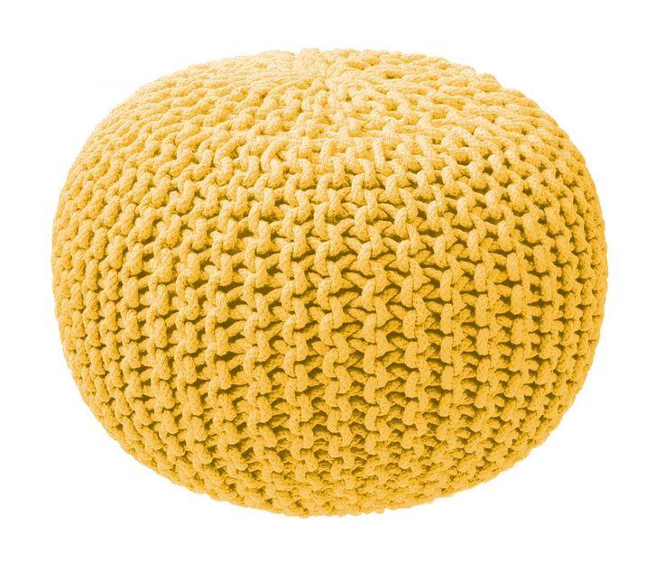 ZicZac poef - Knitted Geel    De ZicZacKnittedis meer dan een poef, het is een mooie accessoire voor elke woon- en slaapkamer. Het is de finishing touch van je interieur. Daarnaast is de poefmultifunctioneel. Gebruik het als voetsteun om lekker te kunnen relaxen. Als je bezoek hebt kun je hemperfect gebruiken als een comfortabel stoeltje. En comfortabel is het zeker door de vulling van EPS parels die zich naar je lichaam vormen.  Productkenmerken  Hoogte: 35 cm Diameter: 50 cm Kwaliteit…