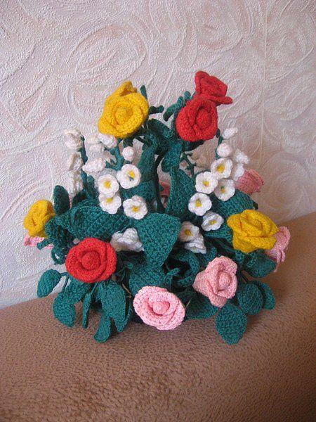 вязаные цветы Светланы Масловой