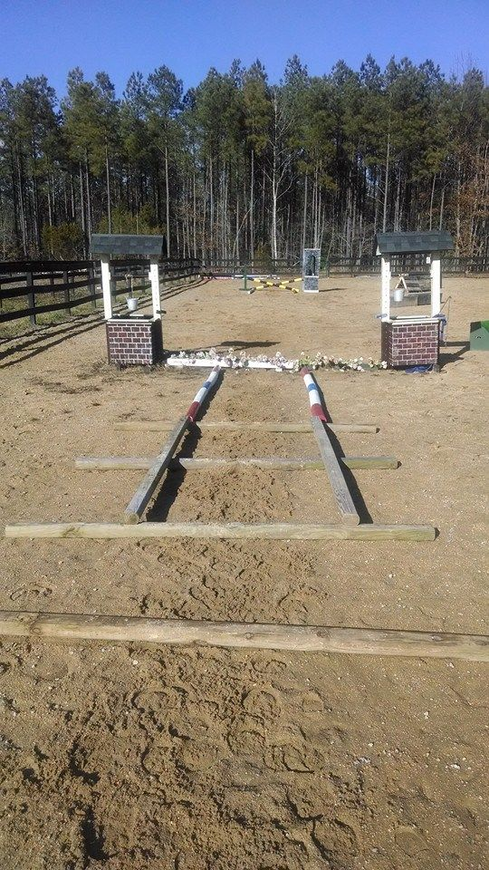 how to make horse jump poles