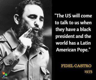Epiphany Do You Know The Answers : Fidel Castro a prediction or not?