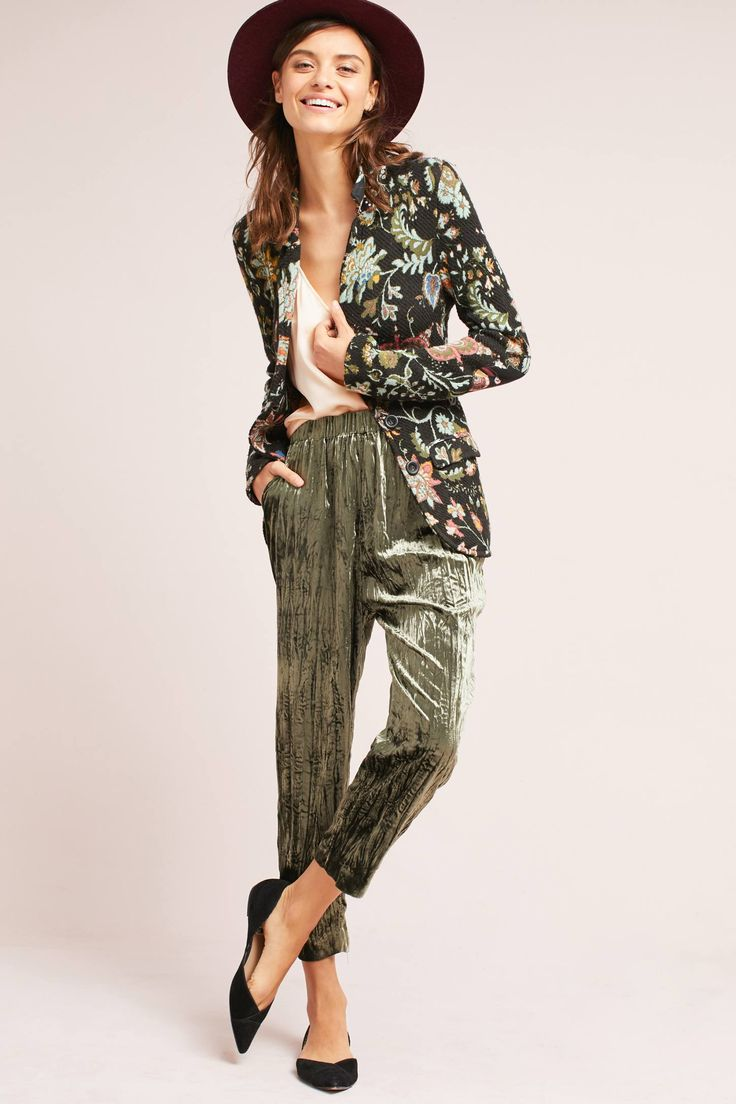 Slide View: 1: Pantalon court en velours Kinney