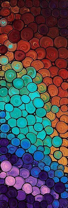 bien degrader et interessant usage des couleurs avec les formes