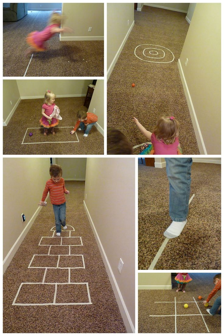 Indoor Games with Masking Tape (www.whattoexpect.com/blogs/astudentatmamauniversity/indoor-family-activities-just-add-masking-tape)