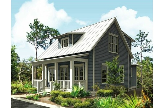 Plan 443 11 an old fashioned retirement for Wide frontage house plans