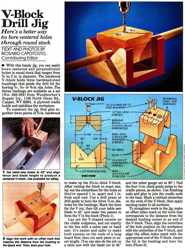 V-Block Drill Jig - Drill