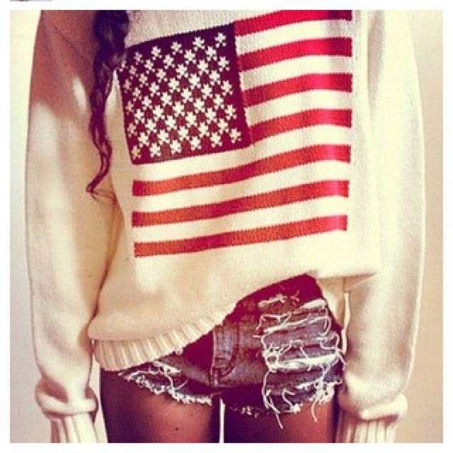 sweater. go america.
