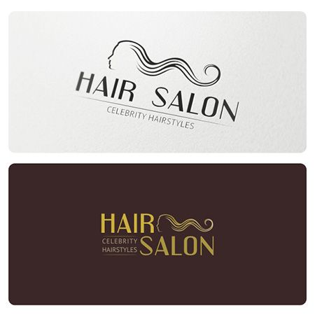 Logo suitable for Hair Salon, Hair Products, Hair Studio, Professional Haircare, Hair Designer and Colorist, Hairdresser, Beauty Salon and other.