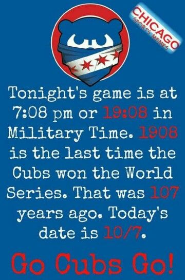 This is so cool. How many years was it since they won the World Series 108 the score was 10 to 8 what does that make 108