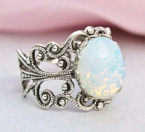Love the opal and the vintage look!!!