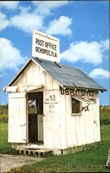 Smallest Post Office In U.S, Everglades National Park Ochopee Florida...for the history buff.     rv road trip, us historical landmarks, rv travel, post office