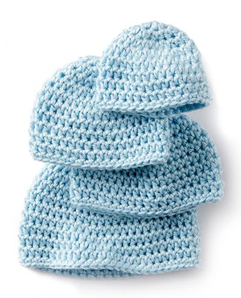 Free Pattern! Crocheted 'Teeny Weeny' Hat in Caron Simply Soft