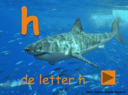 De letter H