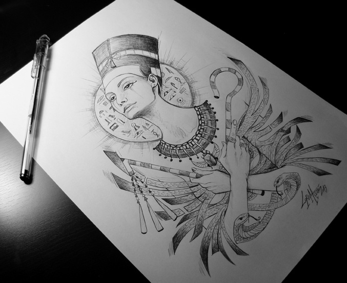 Nefertiti by Lorena Assisi, via Behance