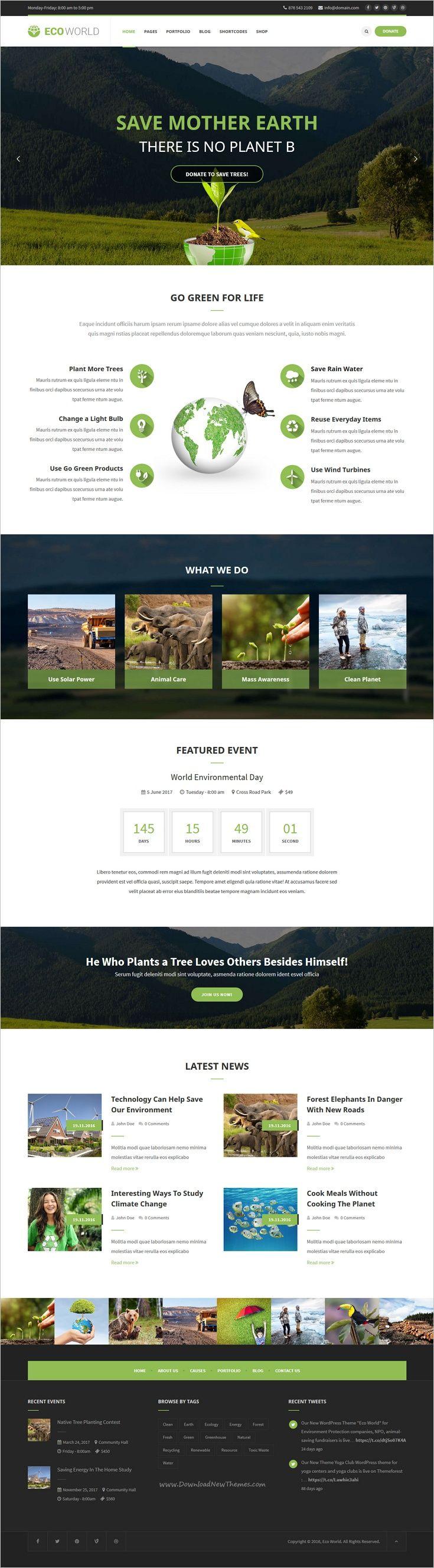 Eco World is a wonderful responsive #WordPress theme for #environment protection companies or nonprofit #organizations website download now➩ https://themeforest.net/item/eco-world-nature-ecology-ngo-wordpress-theme/18967402?ref=Datasata