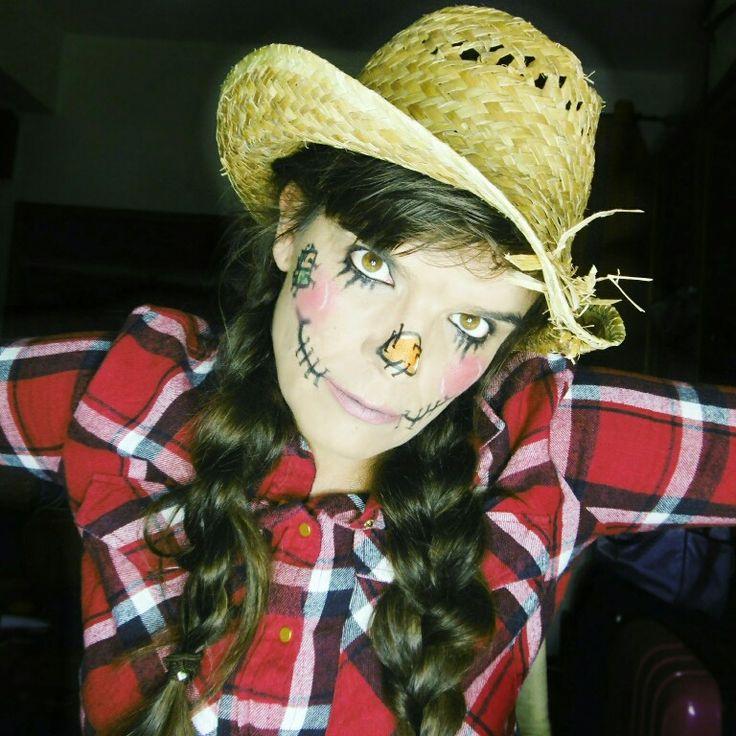 Scarecrow Halloween makeup. Wizard of Oz inspired.