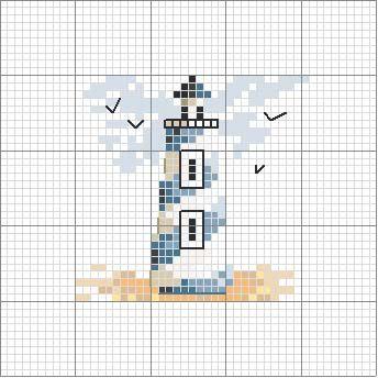 Schema punto croce Faro