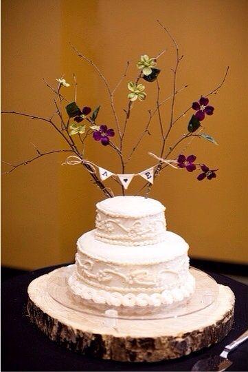 Handmade wedding cake topper
