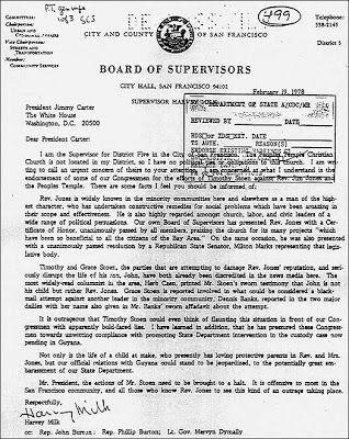 "Harvey Milk Assassination   Jim Jones, the Guyana ""Suicides""  Harvey Milk's Premonitions of Death"