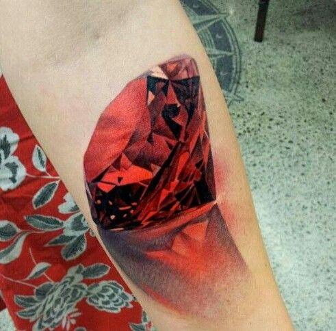 3d diamond tattoo designs