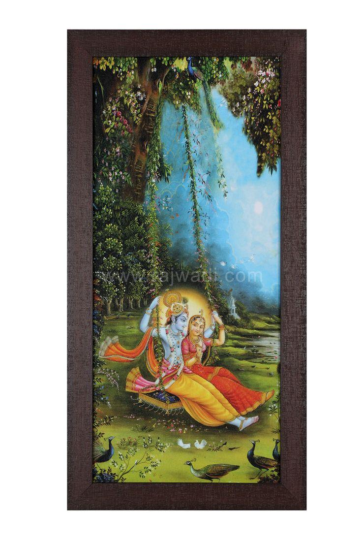 Beautiful Radha Krishna Multicoloured Wall Painting