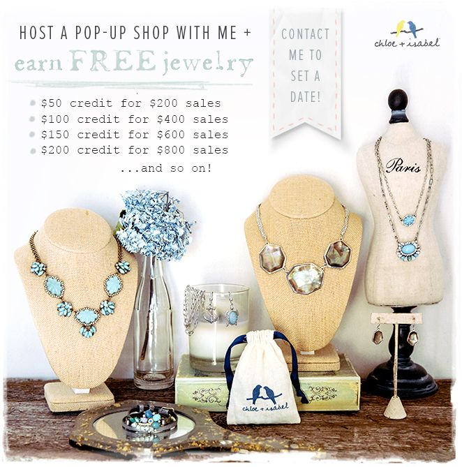 Interested in getting hundred of dollars in FREE c+i Jewelry?! Contact me today so I can make it happen for YOU! Have Fun + Shop @chloeandisabelbyjess