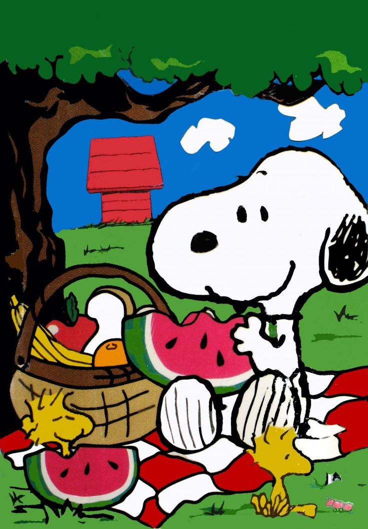 8/1 Snoopy & Woodstock have a Summer Picnic