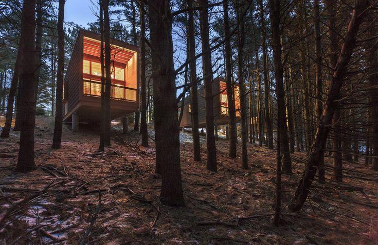 Imagen 8 de 16 de la galería de Cabañas campistas del parque regional Whitetail Woods / HGA Architects and Engineers. Fotografía de Paul Crosby Photography