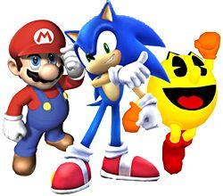 pacman and mario | Blog de games do Kike: Mario Bros,Sonic e Pac-Man