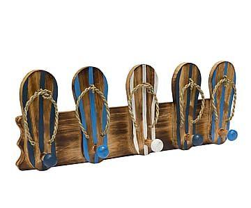 Perchero de madera Flip Flops