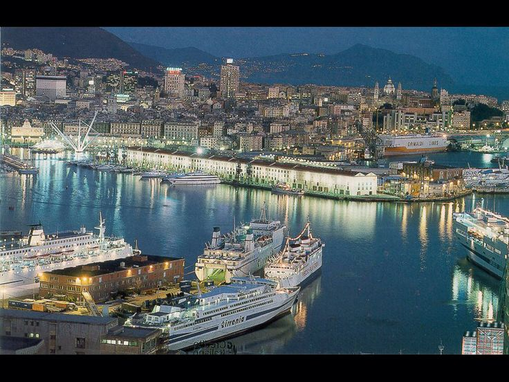 Genova Italy at night