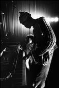 Don CHERRY (trumpet, cora, drums, flute),  with his stepdaughter Neneh CHERRY.   DON CHERRY QUARTET includes :  Don CHERRY (tp,corn,percu,fl) Ray DRAPER (tuba), Johnny DYANI (b), Okay TEMIZ (dm).  Saturday 25th October, 1969.