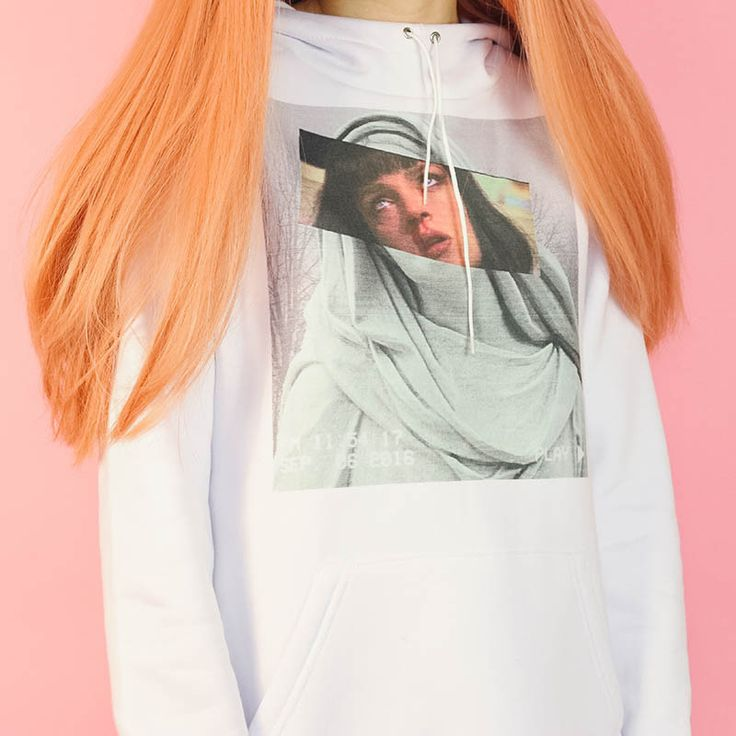 Mia Wallace VHS Hoodie boogzel apparel. Pulp Fiction Hoodie #pulpfiction #miawallace #white #hoodie #aesthetic #outfit