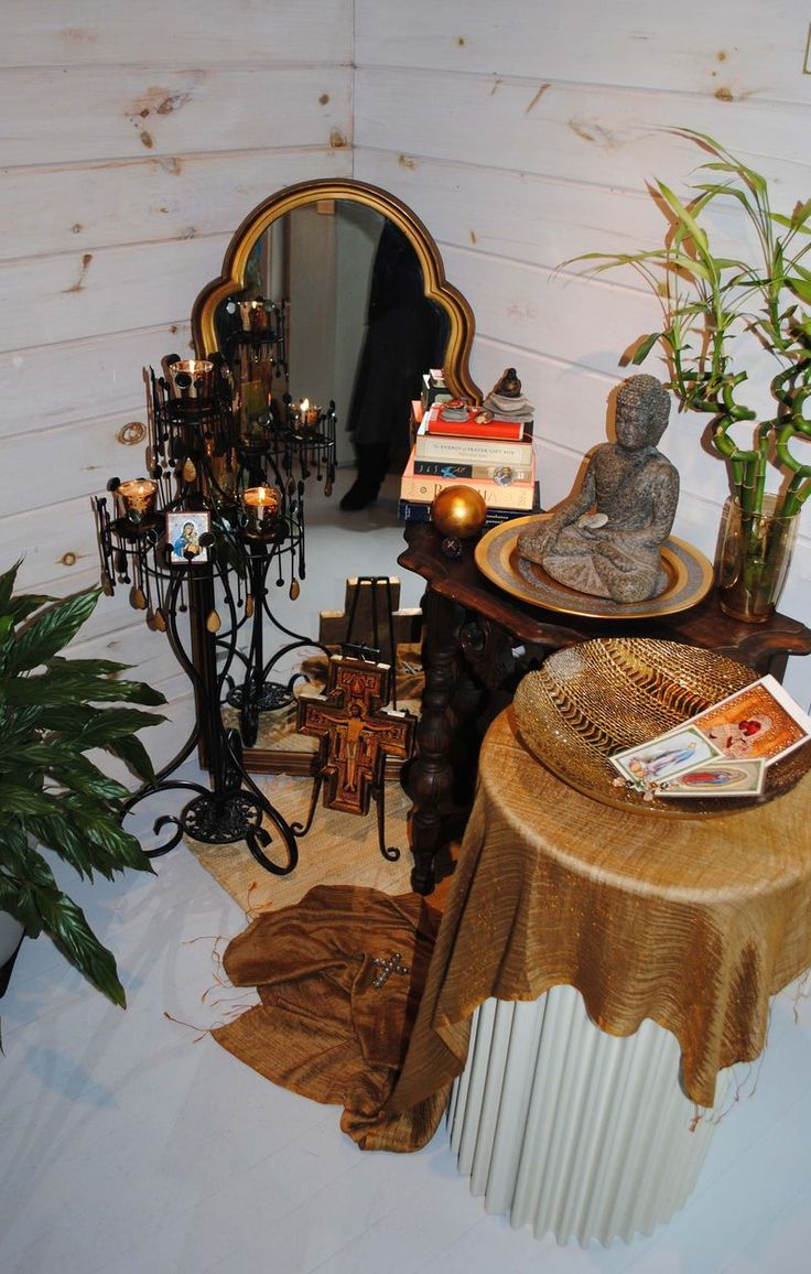 """A corner of serenity...Patrice Dunfro's """"Personal Altar""""."""