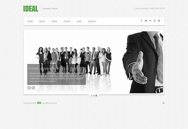 SIMPLE BUSINESS RESPONSIVE WEB TEMPLATE