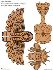 Several sets of free printable totem pole collages..