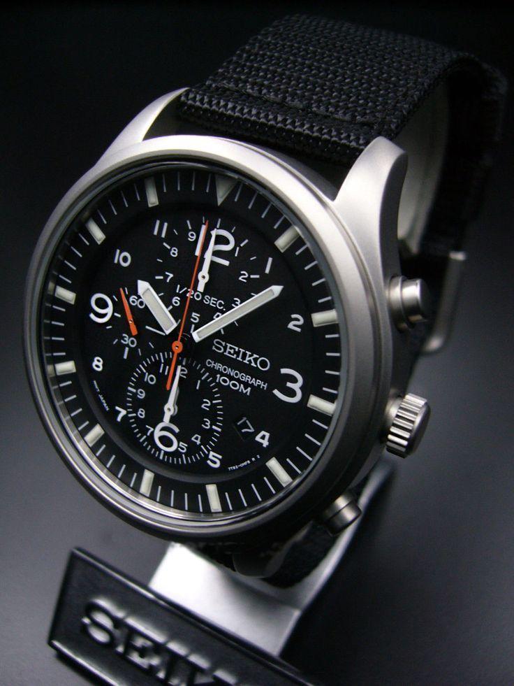 Seiko Military Chronograph SNDA57P1 - $140