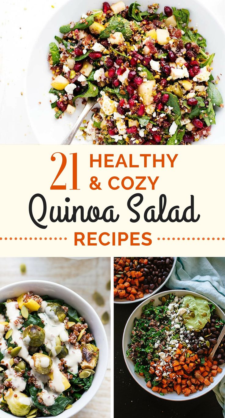 21 seriously healthy and cozy quinoa salad recipes -- these are a must-try this winter!