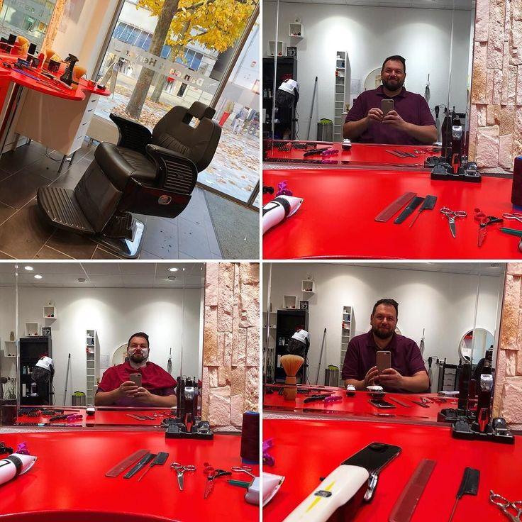 Den Bartmann konsultieren. Das ungeübte Auge sieht auf die Entfernung nicht wirklich einen Unterschied zwischen vorher und nachher aus der Nähe betrachtet ist dieser aber enorm!  : : : #TUTerleben #bartmann #barbier #barber #shaver #astut #tuttlingen #rasur #shave #friseurstuhl #friseur #coiffeur #hair #haircut #beardstyle #männerpflege #barbershop #herrenfriseur #menshairdressing #tuttlingen #badenwürttemberg #deutschland #germany #rasieren #shaving #shave
