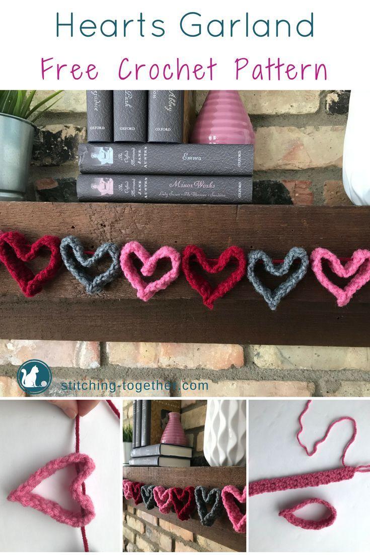 Crochet Heart Garland Free Pattern Pinterest Heart Garland